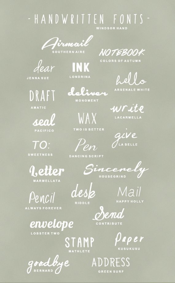 Did you know you can now upload your own fonts into Canva for Work?! Go crazy downloading your favorite fonts from around the web and put them on you Canva designs today! Here are 25 Free Handwritten Fonts to get you started by A Subtle Revelry