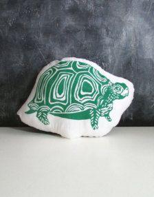 Green turtle cushion