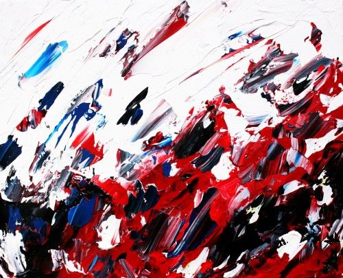 Abstract for SALE - In your eyes 16x20 #abstract #art #painting Julien Aubé