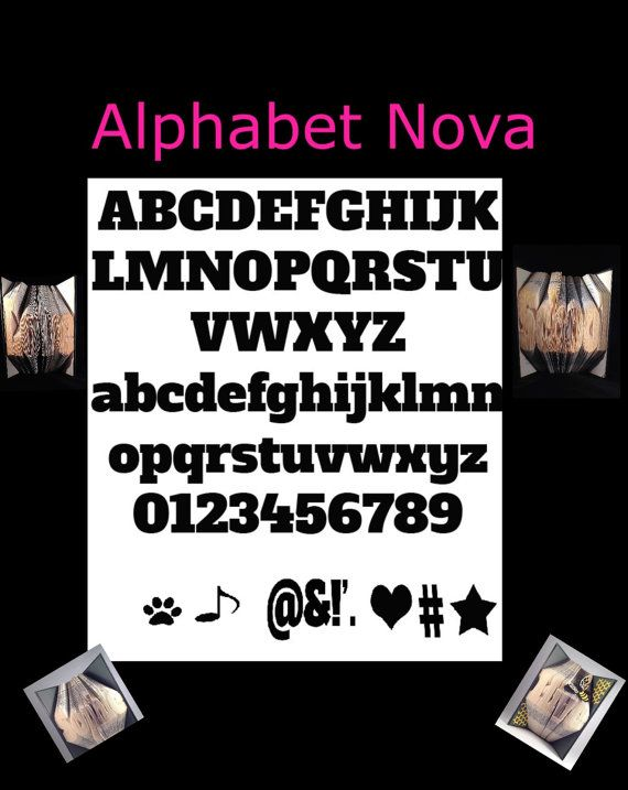 FOLDED BOOK ART Pattern Alphabet in Chunky Font by TheGiftLibrary