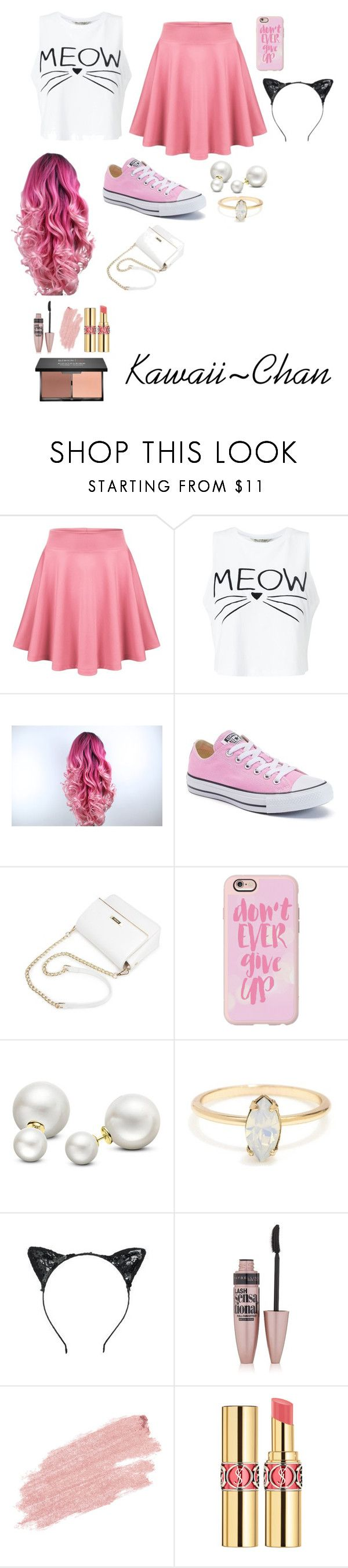 """""""Kawaii~Chan: My Street, Minecraft Diaries, PhineoxDrop High, Love~Love Paradise: Aphmau"""" by kittychbrocks ❤ liked on Polyvore featuring Miss Selfridge, Converse, Casetify, Allurez, Maybelline, Jane Iredale, Yves Saint Laurent and blacklUp"""