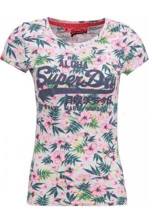 Damesshirts met korte mouw - Superdry Tshirt print ice marl
