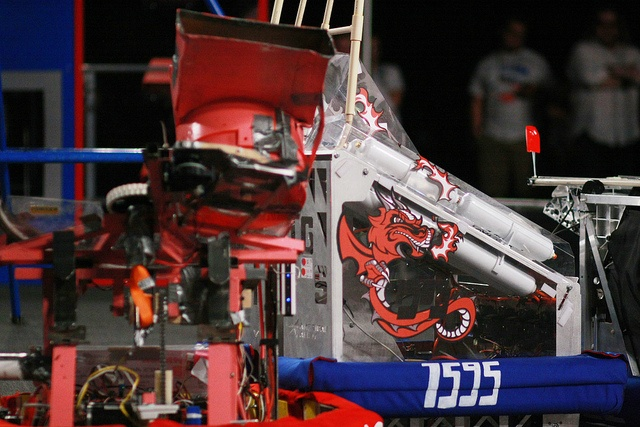 The robot built by team 1595, the Dragons from Saint Georges Academy in Spokane.