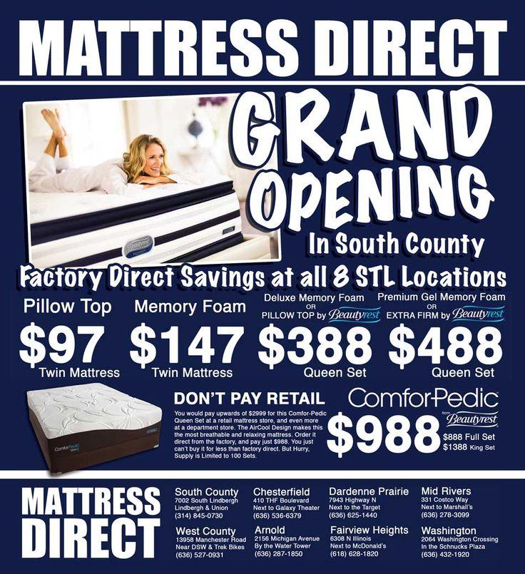 Grand Opening South County Mattress Direct Http Stlmattressdirect