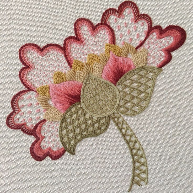 'Peony' Jacobean Crewel Work Embroidery Kit