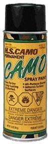 HUNTERS SPECIALTIES INC *12oz Flat Black Camo Spray Paint, EA
