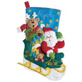 Santa's Helper Bucilla Christmas Stocking Kit