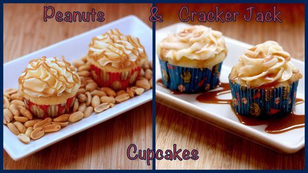 Peanuts and Cracker Jack Cupcakes   cupcakesandkalechips.com   #peanutbutter #saltedcaramel #cupcakes #cupcakeideas #cupcakerecipes #food #yummy #sweet #delicious #cupcake