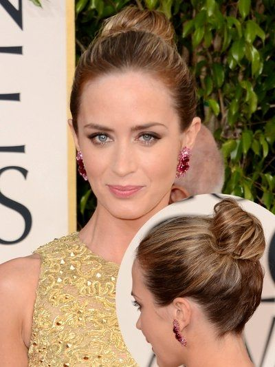 emily bunt up dos | Emily Blunt Updo Hairstyle 2013 Golden Globes