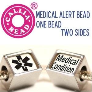 custom made medical alert pandora style european bead one
