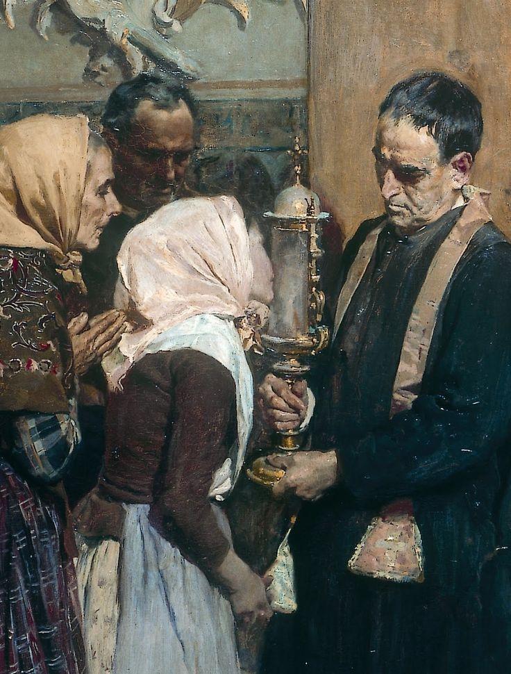 """Kissing the Relic"" (detail), 1893, Joaquín Sorolla."