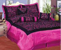 Bedroom Decor Ideas and Designs: Top Zebra Print Bedding for Girls