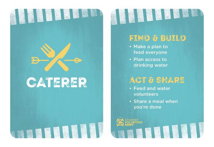 Project Team Role - Caterer