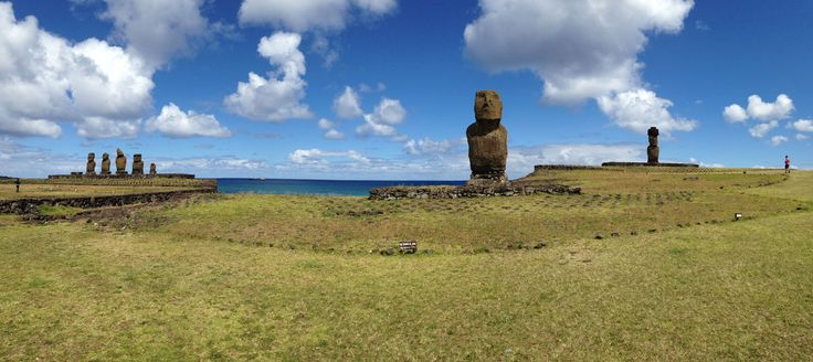 Tahai, Easter Island - a site with several Moai, dating to as far as the 1100s. Tahai is near the Tekarera Inn, where we stayed.