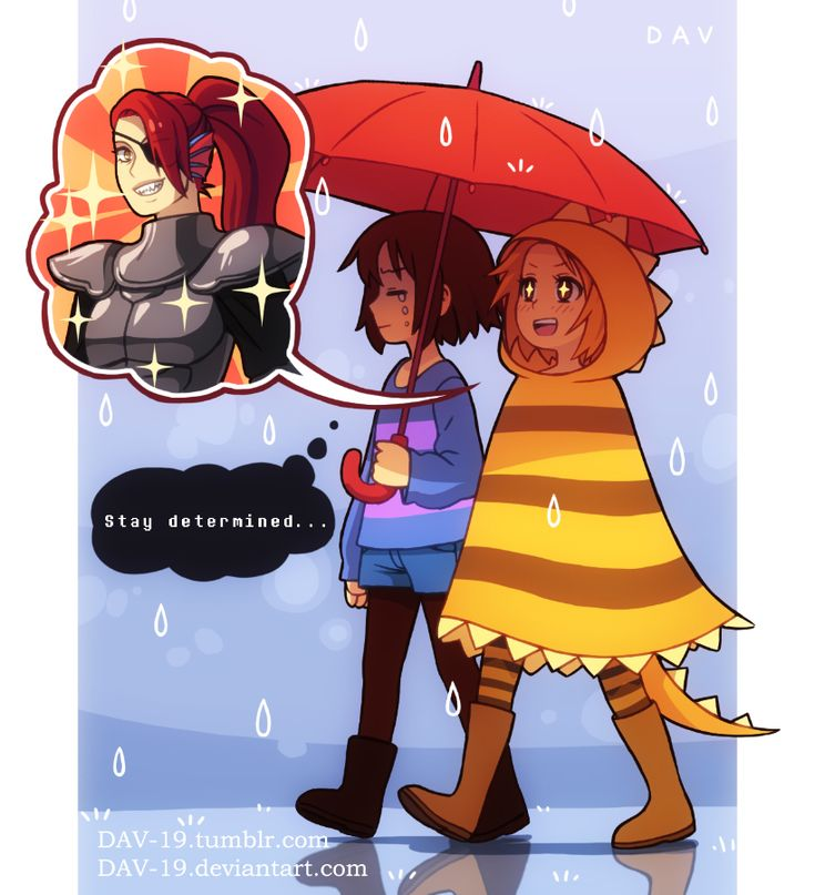 Dav-19 art of Undertale humans. Hand in there frisk XD. Monster kid and Undyne