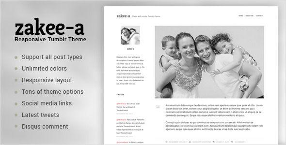 Zakeea-A | Clean and Simple Tumblr Blog Theme - Tumblr Blogging