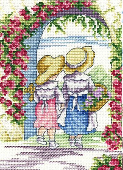 """All our Yesterdays, Faye Whittaker """"English Roses"""" Kreuzstichpackung / cross stitch kit"""