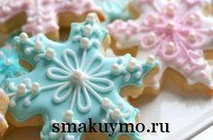 Сахарное песочное печенье с глазурью