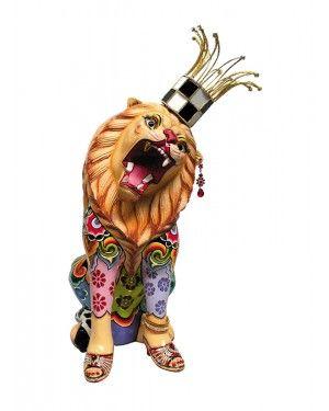 Escultura Leão Clarance - Thomas Hoffman #tomsdrag #thomashoffman #decoracao #escultura #amandapresentes #leao #clarance