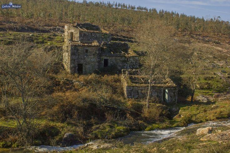 Información sobre el río da Cal, entre los concellos de Oia y O Rosal, en la provincia de Pontevedra. Río que lleva el agua a los molinos de O Folón.