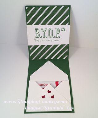 B.Y.O.P., Gift Card, Envelope Punch Board, Stampin' Up!