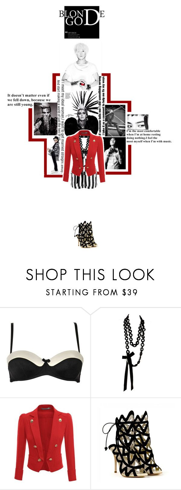 """""""GD"""" by danahz ❤ liked on Polyvore featuring Chantal Thomass, Sally Phillips, Doublju and Sophia Webster"""