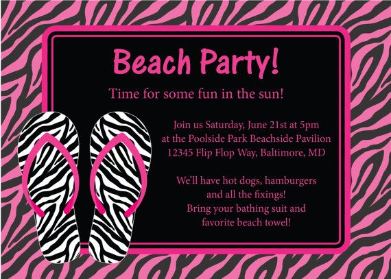 11 best Wet n wild invites images on Pinterest Invites, Birthdays - best of invitation templates for beach party