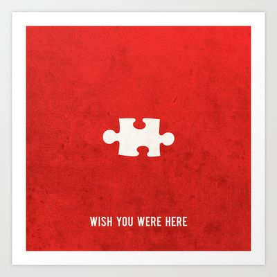 Wish you were here Art Print  Wish you were here, miss you, missed you, travel, postcard, card, poster, message, quote, romantic, love, friend, wife, gf, girlfriend, boyfriend, friends, mum, dad, bro, brother, missing, missing you, distance, distance relationship, puzzle, puzzles, games, game,