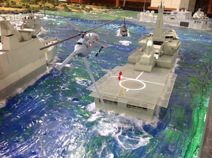 TNI AL vessel on maneuvre, 1/72 scale by ademodelart