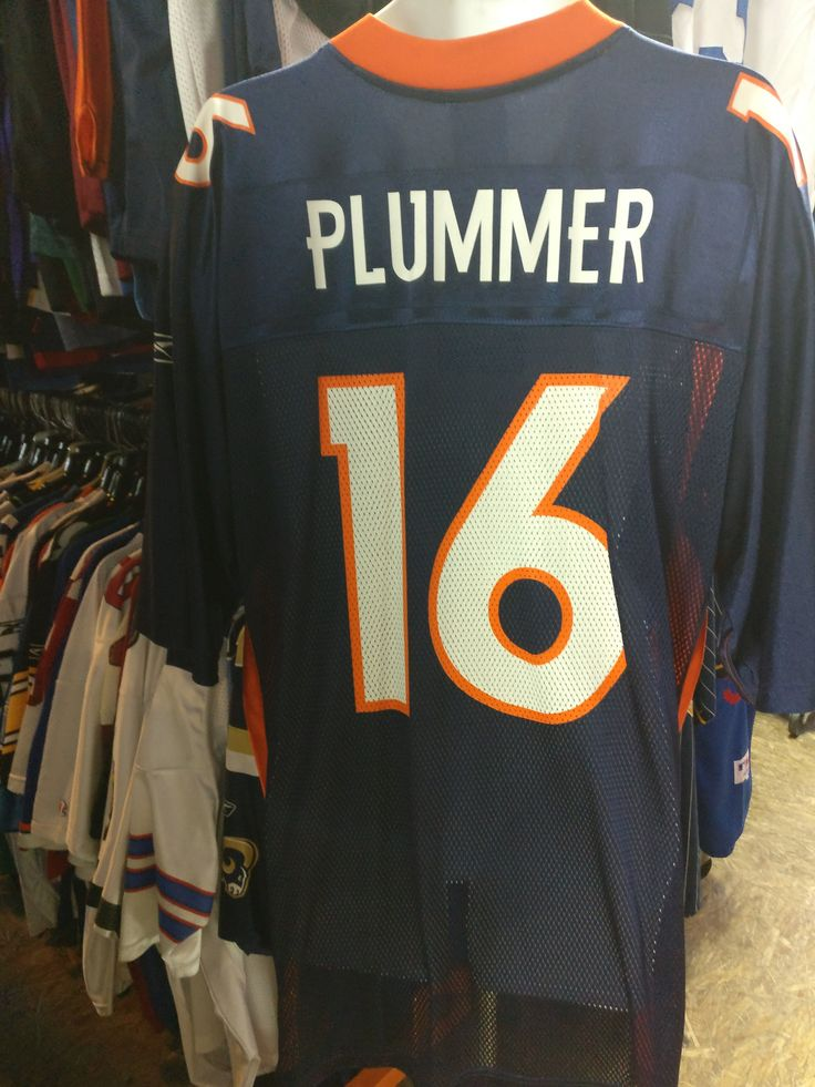 Vtg #16 JAKE PLUMMER Denver Broncos NFL Reebok Jersey XL (Deadstock)
