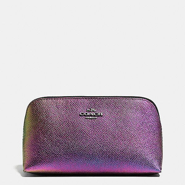 Cosmetic Case 17 In Hologram Leather Color Black Colors