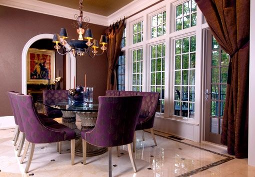 17 best images about for the home dining room ideas on for Purple dining room ideas