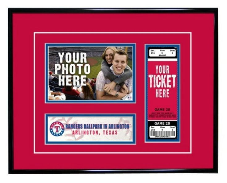 Texas Rangers Game Day Ticket Frame