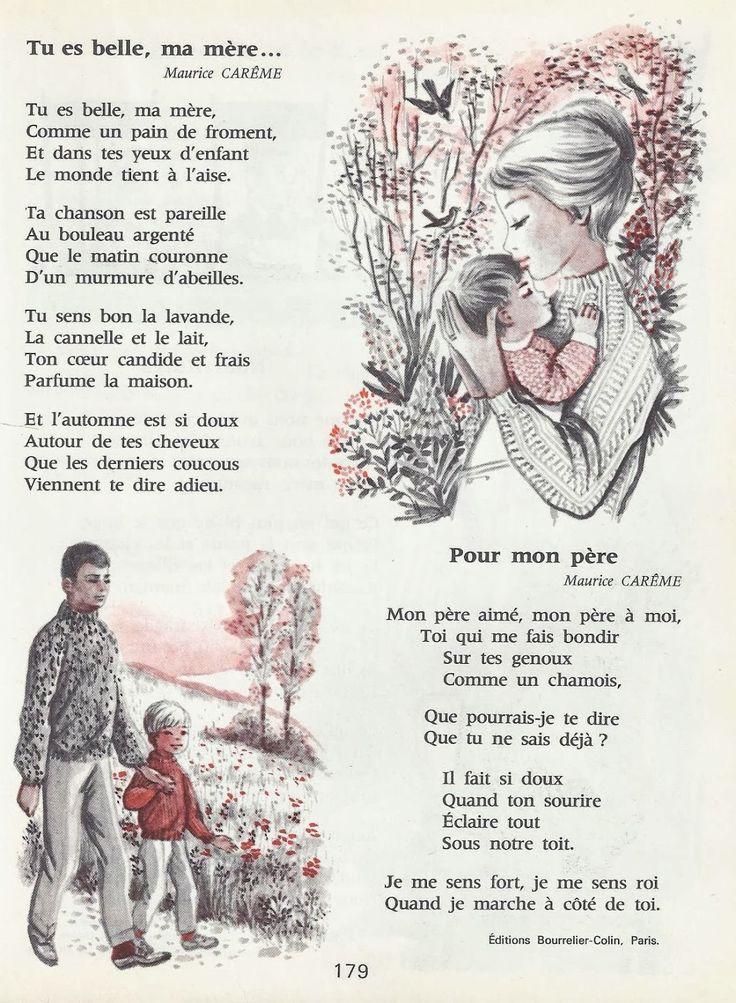 Maurice Carême - Tu es belle, ma mère suivi de Pour mon père - Mareuil, Goupil, Au pays des contes (lectures pour le CE2).