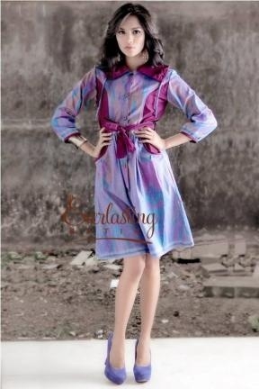 20185 graphic tenun dress