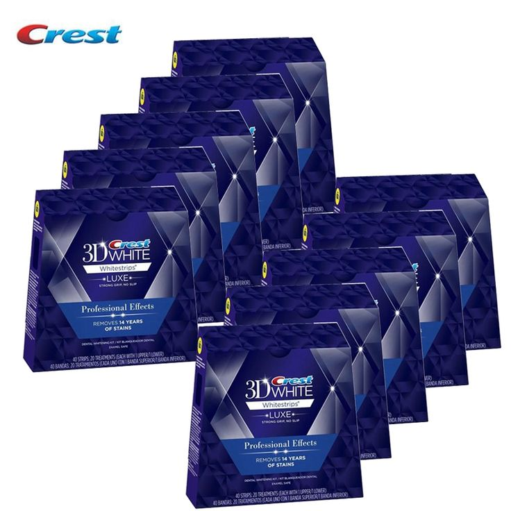 (387.71$)  Buy here  - Crest Whitestrips 3D Professional White LUXE Teeth Whitening 10BoxesS 200 Pouches 400Strips Original Effects Dental Oral Hygiene http://reviewscircle.com/Teeth-Whitening-4-You