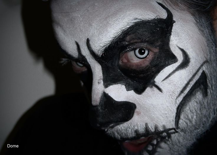 makeup skull - halloween makeup - white eyes - photo halloween
