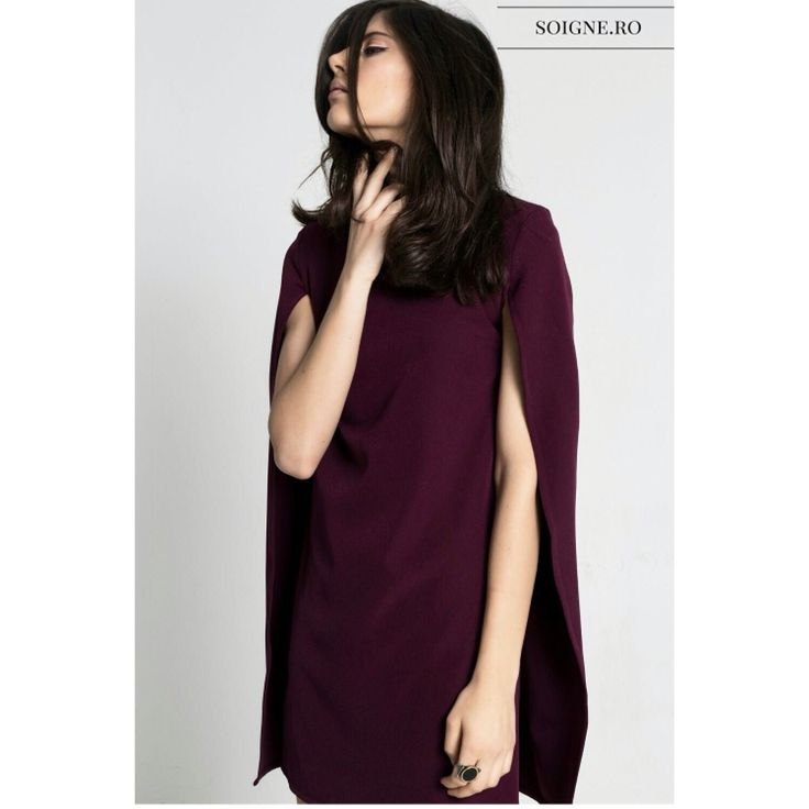 Marsala Cape Dress -> www.soigne.ro
