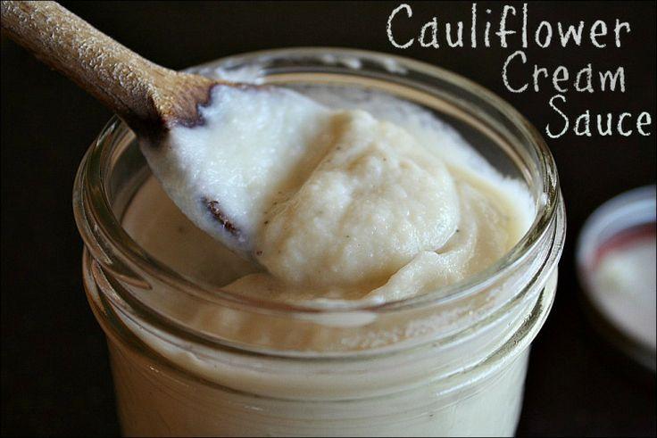 Cauliflower Cream Sauce - better than any alfredo-type cream sauce I ...