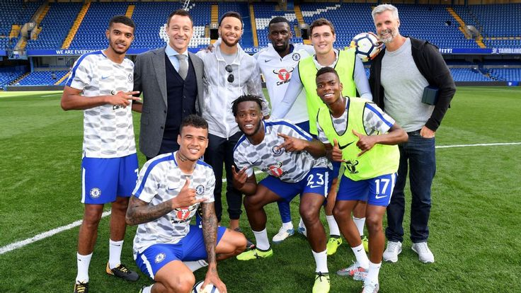 Stephen Curry takes penalty kick at Chelsea game, meets players    Stephen Curry takes penalty kick at Chelsea game, meets players   http://www.espn.com/sportsnation/story/_/page/QTP_170918curry/sportsnation-golden-state-warriors-stephen-curry-takes-penalty-kick-meets-chelsea-players-london