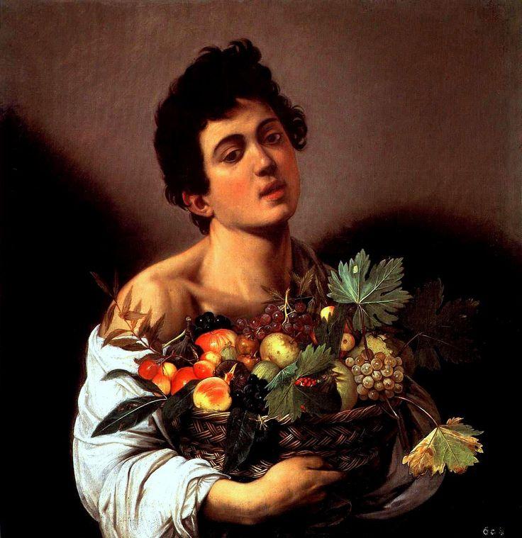 caravaggio,il fanciullo con canestra di frutta,1593-1594-galleria borghese di roma.jpg (1094×1129)