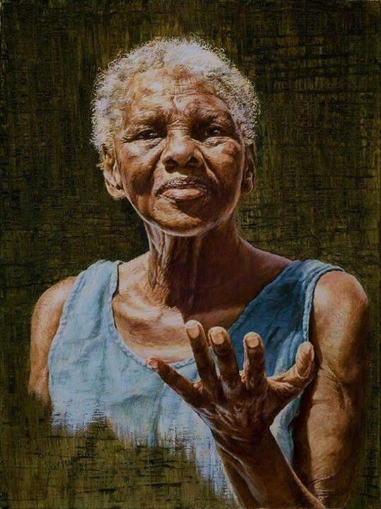 "Black Art  African American Older Woman...""Nana's Wisdom"""