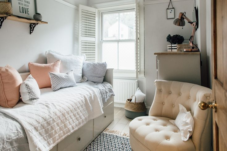 Scandinavian Style Bedroom With Ikea Daybed - Elle's Modern Country Guest Bedroom
