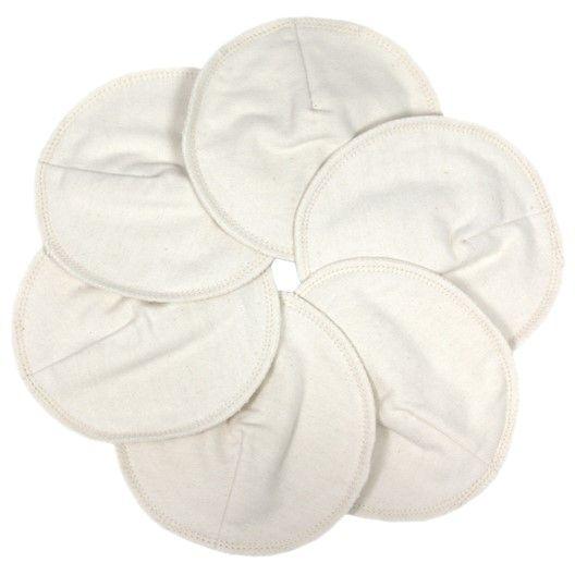 Tvättbara amningsinlägg av mjuk, naturfärgad ekologisk bomullsflanell som fångar upp det extra mjölkflödet före och efter amning. Mått: Ø12 cm. Skölj i kallt vatten innan tvätt. Tvätta därefter i maskin på 60 °C. Hängtorka.