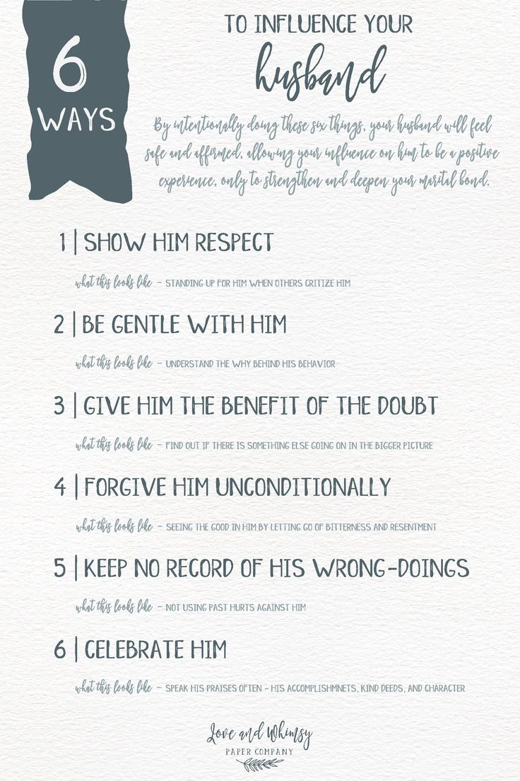 Your words as a wife has a huge impact on your husband! Here are 6 ways you can use your influence to uplift him and strengthen your marriage - Love and Whimsy Paper Company