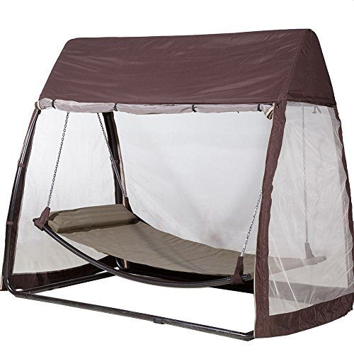 Abba Patio Outdoor Arched Canopy Cover Hanging Swing Hammock with Mosquito Net 7.6x4.5x6.7 Ft, Chocolate Abba Patio® http://www.amazon.com/dp/B013G1WVI8/ref=cm_sw_r_pi_dp_OqS-wb040RSTC