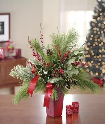 poinsettia centerpieces ideas | Cheap Christmas Flowers & Gifts | The Online Flower Expert - From You ...