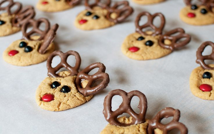 Reindeer Biscuits Christmas Ideas Pinterest