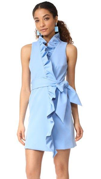 Milly Платье с оборками спереди