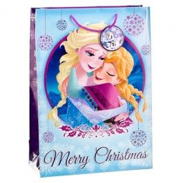 Frozen Gift Bag, extra large with beautiful image of Elsa and Olaf, a perfect way of delivering that special Christmas gift 46 x 33 cm